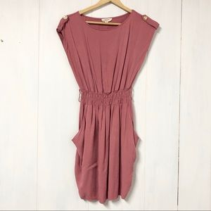 Chocolate USA Blush Pink Cinch Waist Dress